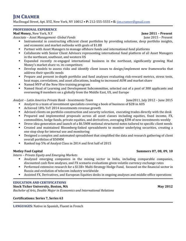 Multi Asset Research UBS Global Topics  Asset Management Resume